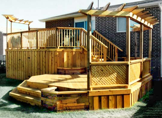 Tiered Deck On Pinterest Two Level Deck Hillside Deck