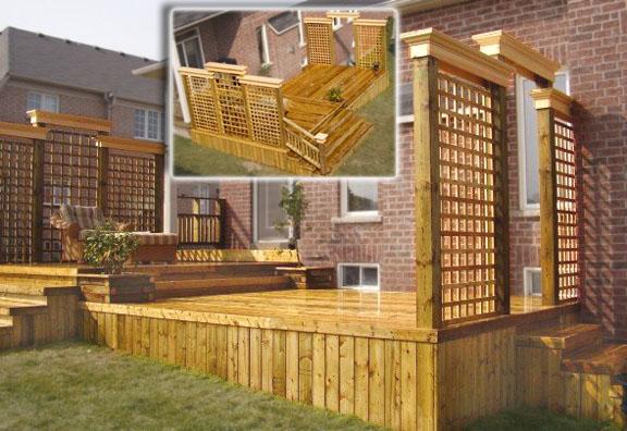 Deck privacy wall ideas for Deck privacy ideas lattice