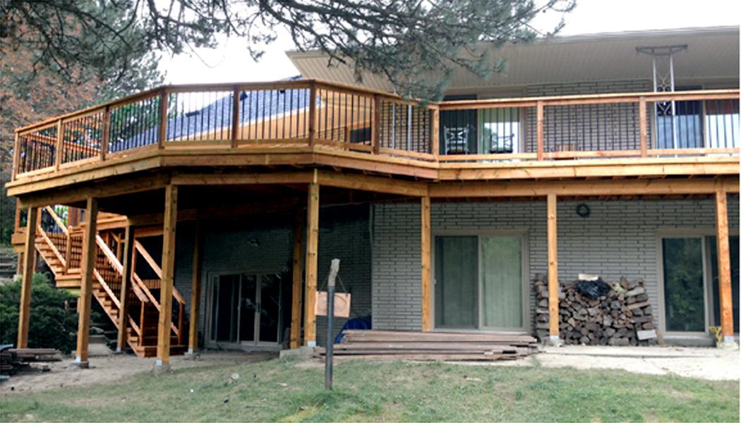 Long Raised Upper Deck Windowsby Deckcellence Deck Builders