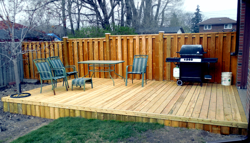 Pressure treated platform deck by deckcellence deck builders for Pressure treated decking