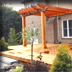 Open Pergola Poolside Deck